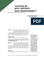 Gómez, Raúl-De las nociones de paradigma, episteme y obstáculo epistemológico.pdf