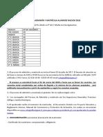 Proceso de Admision y Matricula Alumnos Nuevos 2018