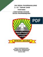 172722894-PERDES-NO-3-tahun-2009-PENETAPAN-DUSUN-pdf.pdf