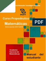 Curso Propedéutico MATEMATICAS 2017