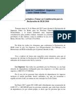 Elementos a Tomar en Cuenta Para La Declaración de ISLR