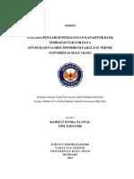 Skripsi Analisis Pengaruh Pemasangan Kapsitor Bank Terhadap Faktor Daya (Studi Kasus Gardu Distribusi Fakultas Teknik Universitas Halu Oleo)