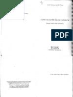 Serna, Justo y Anaclet Pons - Cómo se escribe la Microhistoria Ensayo sobre Carlo Ginzburg  (2000)