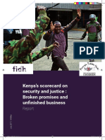 Kenya's scorecard on security and justice
