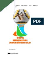 Plan de Trabajo Campeonato Copa Municipal Anccohuayllo 2017