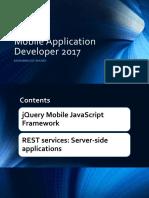 Mobile Application Developer 2017 (JQuery&REST)