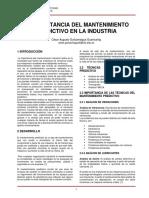 ANALISIS PREDICTIVO ....Imporatncia Del Mantenimiento Precitivo en La Industria