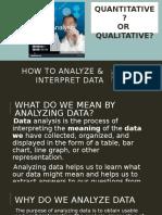 How to Analyze & Interpret Data