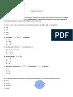 Prueba Matemática diagnóstico