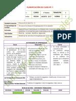 1° CIENCIAS NATURALES  AGOSTO 2017