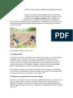 Efectos Ambientales de Las Practicas Agricolas Tradicionales e Industriales