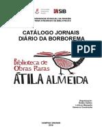 CATÁLOGO DOS JORNAIS 'Diario Da Borborema' 2014 e 2015