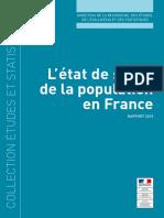 L'État de Santé de La Popultion en France Rapport 2015