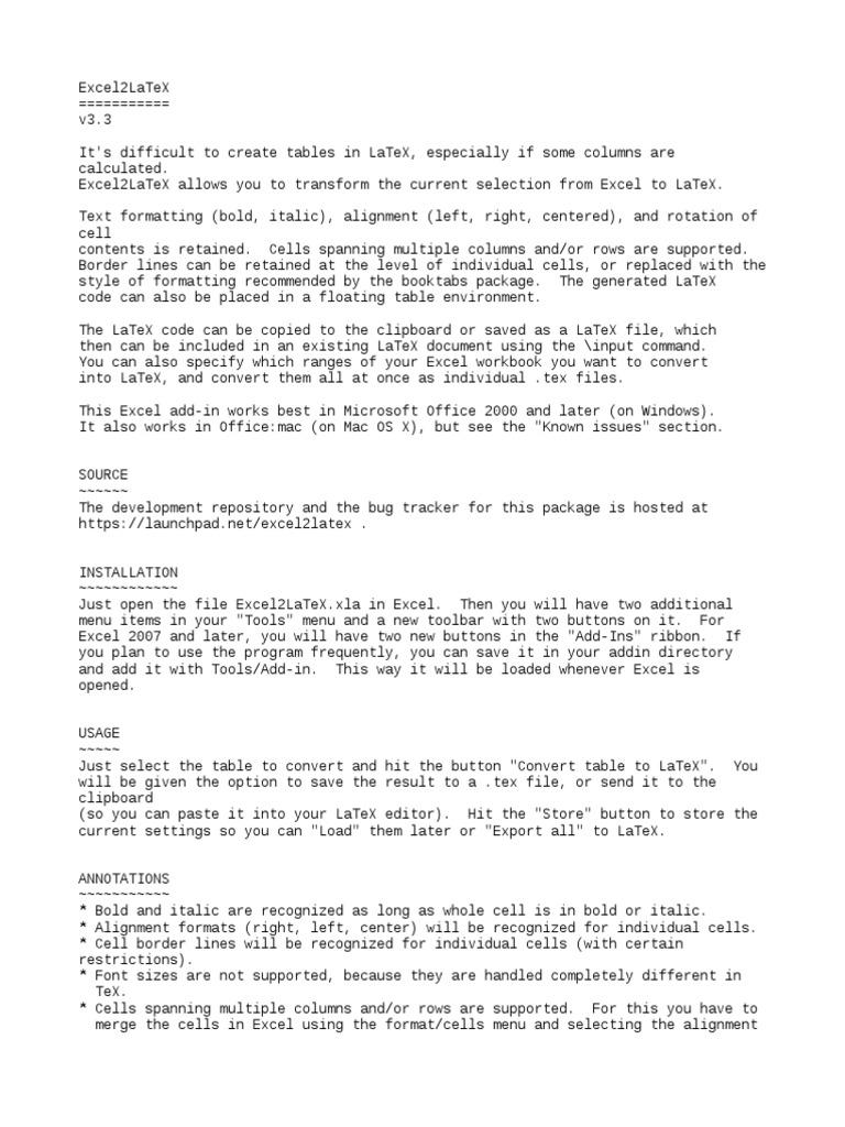 Readme txt   Te X   Microsoft Excel