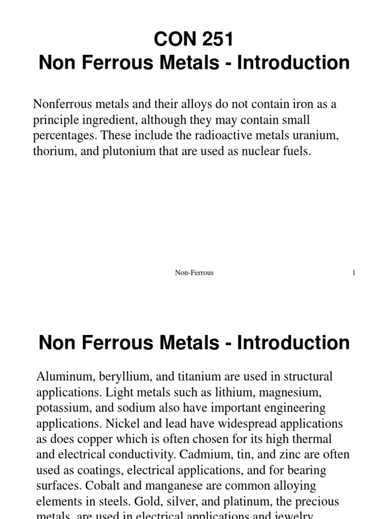 Non-ferrous metals - this is what classification and their properties 72