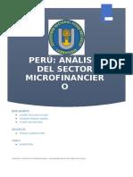 Análisis Del Sector Microfinanciero Bancario y No Bancario