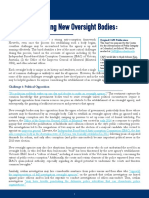 Challenges Facing New Oversight Bodies