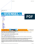Time for a Closer Look at Universal Human Values – KuenselOnline