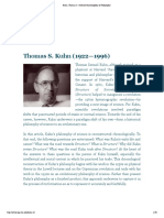 Thomas S. Kuhn (1922—1996) Encyclopedia of Philosopy