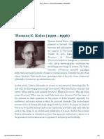 ThomasS.Kuhn(1922—1996) Encyclopedia of Philosopy