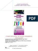 Teatro de La Sensacion-curso Infantil de Danza Moderna Iniciación-sept.017