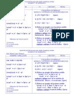 Examen Productos Notables y Factorizacion