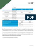 Z-ABS Material Data Sheet