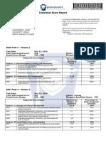 pect score report - alexandra huss