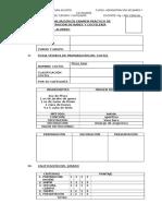 Ficha de Evaluación de Examen Práctico de Administración de Bares y Coctelería