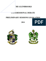 2014 Glenbrooks - Preliminary Legislation