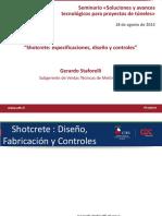 Shotcrete Especificaciones Diseño y Controles Gerardo Staforelli