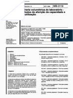 NBR 11588-89 - Vidraria volumétrica de laboratório - Métodos de aferição da capacidade e de utilização.pdf