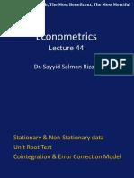 Econometric s Lecture 44