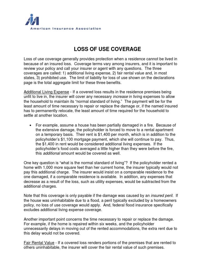 Loss Of Use Coverage >> Loss Of Use Coverage 326713 Home Insurance Insurance