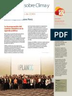 Panorama sobre Clima y Desarrollo