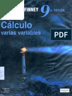 Cálculo Varias Variables 9na Edición - Thomas Finney
