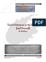 Travel Distances in the Empire