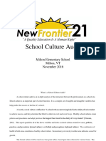 Milton Elementary School Culture Audit