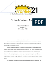 Milton Middle School Culture Audit