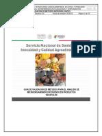 Validaci n de m Todos Para El an Lisis de Microorganismos Pat Genos en Productos Vegetales