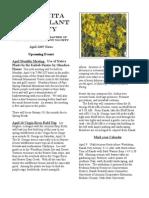 April 2005 Manzanita Native Plant Society Newsletter