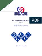 Politica de Discapacidad de La República de Panamá-SENADIS