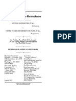 Defense Distributed v. Department of State - Petition for a Writ of Certiorari