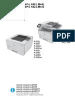 Hp Laserjet Pro M402 M403 M426 M427 Repair Manual TOC