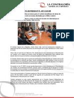 NP75-2017 | Contraloría coordina acciones para el control simultáneo de obras de reconstrucción en zonas afectadas por el Niño costero