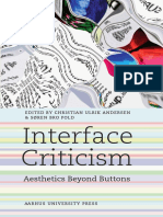Interface Criticism. Aesthetics Beyond Buttons