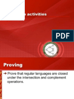Workshop Activities and DFA Minimization