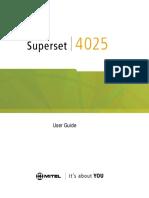 mitel superset 4025