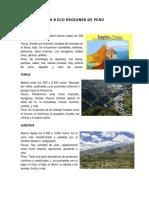 Las 8 Eco Regiones de Perú