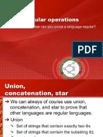 Regular Operations and Non-Regular Languages